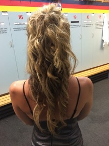 Hair by Stacey – Jess at the Adelaide Crows Season Launch 2015