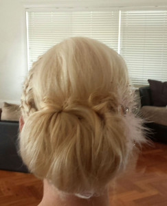 Emma's hair design for her special event